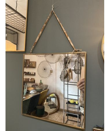 miroir kiko finition antique 40 x 40 cm